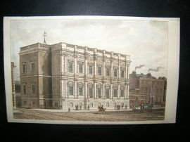 Ackermann C1810 Hand Col Print. Banqueting House, London